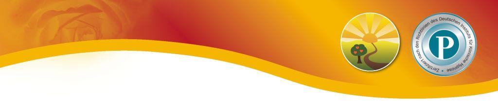 Foto einer Farbwelle mit Farbverlauf von gelb ins rot. Am linken Rand ist eine stilisierte Schnecke zu sehen, am rechten ist mein Logo (ein Weg führt in die Sonne) und das Gütesiegel vorn Dr. Norbert Preetz. Wenn man darauf klickt, erscheint eine Empfehlung von Dr. Norbert Preetz